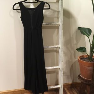 Deep cut maxi dress